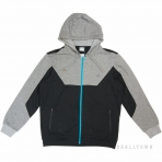 PEAK HOODIE SWEATER WITH FRONT ZIPPER F653165 BLACK