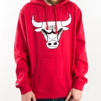Mitchell & Ness Black And White Logo Hoody NBA Chicago Bulls