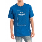 Crooks & Castles No.38 Checkered Crew T-Shirt Cobalt
