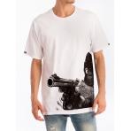 Crooks & Castles Stick Em Up Crew T-Shirt White