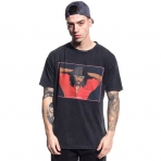 Grimey Infamous Rick Tee T- Shirt Washed Black