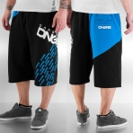 Dangerous Dngrs Swip Sweat Shorts Black/Blue Jewel