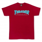 Thrasher Magazine Outlined T-Shirt Cardinal