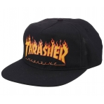 Thrasher Magazine Flame Snapback Black