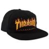 Thrasher Magazine Flame Snapback Black