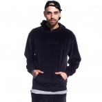 Grimey Natural Velour Hoodie Antracite Black
