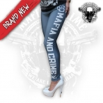 Mafia & Crime Leggings Grey