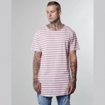 Cayler & Sons BL Striped Scallop Long Tee - Mauve