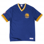 Mitchell & Ness Overtime Win Vintage Tee 2.0 Golden State Warriors Blue