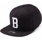 State Of Wow Šiltovka Bravo Soft Baseball Cap - Black/White - Strapback