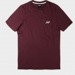 Wrung Back Sign Pocket Tee Bordeaux