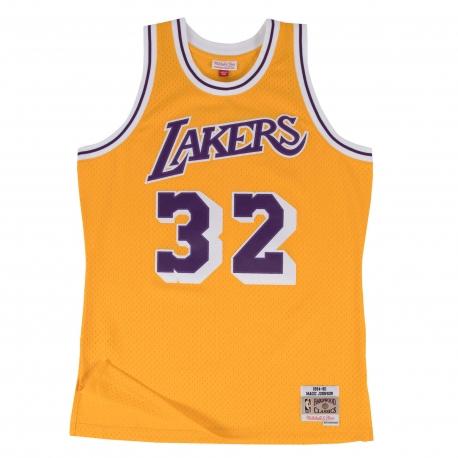 Mitchell & Ness Swingman Jersey - Magic Johnson Nr. 32 Los Angeles Lakers Yellow/Purple