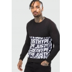 Hype Justhype Text Panel Crewneck Black/Multi