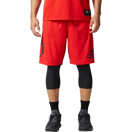 Adidas Dame Foundation Two-in-One Shorts - Scarlet