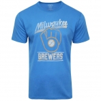 47Brand Official Mlb Milwaukee Brewers Fadeaway T-Shirt