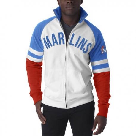 47Brand Official Mlb Miami Marlins Bond Track Jacket