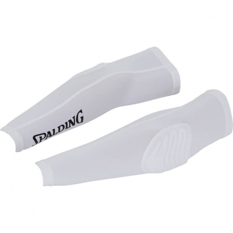 Spalding Padded Shooting Sleeves White/Black
