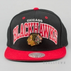 Mitchell & Ness Vintage Team Arch Snapback NHL - Chicago Blackhawks Black/Red