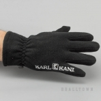 Karl Kani Jeans Gothic Skript Fleece Gloves Black