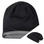 Brandit Beanie Jersey - Bicolor black/anthracite