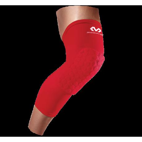 McDavid Hex Force HexPad Extended Leg Sleeves (chránič kolena - červený)