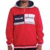 PELLE PELLE SIDELINE HOODED JACKET RED