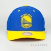 MITCHELL & NESS GOLDEN STATE WARRIORS TEAM LOGO 2-TONE 110 SNAPBACK ROYAL/YELLOW