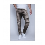 MZGZ Wrap Denim Pant Bleach Grey