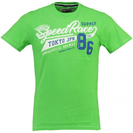 GEOGRAPHICAL NORWAY JRISBEE T-SHIRT FLASH GREEN