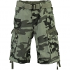GEOGRAPHICAL NORWAY PANORAMIQUE CAMO SHORTS GREY