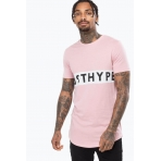 Just Hype T-Shirt - JUSTHYPE PANEL - Pink/White