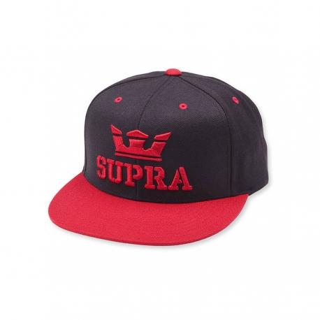 SUPRA Above Snap Hat BLACK/RED