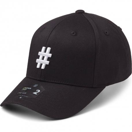 StateOf Wow Šiltovka Hashtag Baseball Cap - Crown 2 - Black/White - Strapback