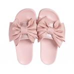 Slydes Peep Silk Bow Candyfloss