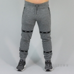 WRUNG URBAN EXPLORER STRIKE SWEAT PANTS HEATHER GREY