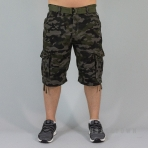 SOUTH-POLE Belted Cargo Group NON DENIM SHORT WOODLAND