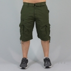 SOUTH-POLE Belted Cargo Group NON DENIM SHORT OLIVE