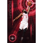 NBA Poster James Harden Houston Rockets