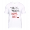 Under Armour Bball Hard Work Graphic T-Shirt White