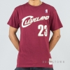 MITCHELL & NESS NBA TRADITIONAL TEE CLEVELAND CAVALIERS / LEBRON JAMES No. 23 BURGUNDY