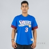 MITCHELL & NESS NBA NAME/NUMBER MESH CREWNECK PHILADELPHIA 76ERS / ALLEN IVERSON ROYAL/RED