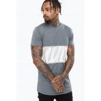 Hype Men's T-Shirt - SCRIPT PANEL	Grey/Grey SS18-087