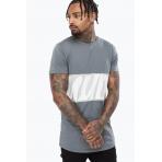 Hype Men's T-Shirt - SCRIPT PANELGrey/Grey SS18-087