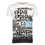 Shine Originals Graffiti print tee S/S 2-45678 White