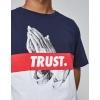 Cayler & Sons White Label Block Trust Tee White/Navy