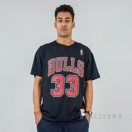 MITCHELL & NESS NBA TRADITIONAL TEE CHICAGO BULLS / SCOTTIE PIPPEN No. 33 BLACK