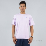 Russell Athletics Heritage Baseliners Tee Shirt Vintage Lilac