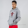 Mitchell & Ness Distressed Hwc Team Logo Hoody Chicago Bulls Grey
