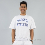 Russell Athletics Heritage Dukes Vintage Arch Logo Short Sleeved Sweatshirt Silver Marl