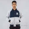 MAJESTIC FLEECE LETTERMAN JACKET NEW YORK YANKEES NAVY
